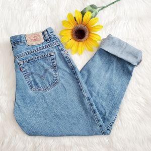 Levi 550 Light Wash Straight High Rise Jeans